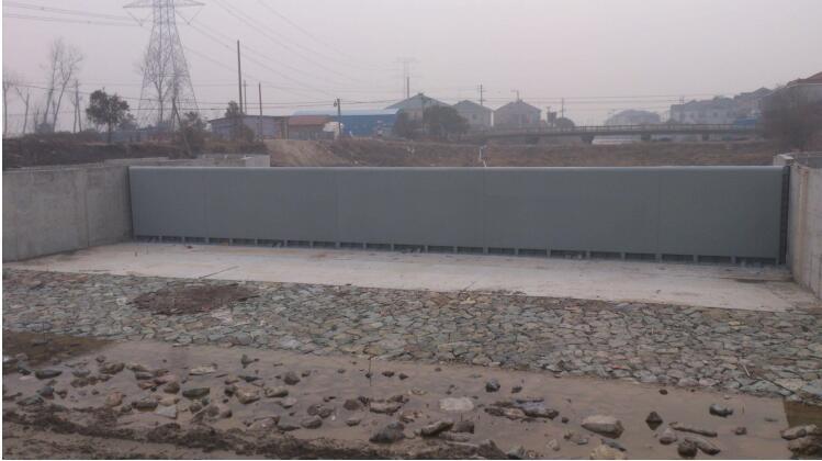 ⼴元市朝天区7.11洪灾受损防洪堤永久性修复⼯程